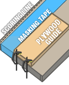 Scoring, Guide and Plywood 2