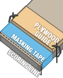 Scoring, Guide and Plywood