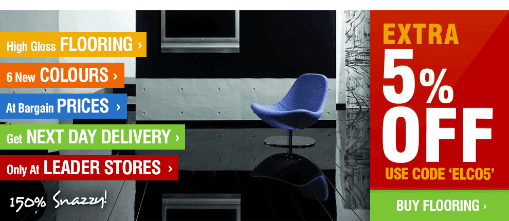 Elesgo High Gloss Flooring - 6 Brand New Exclusive Colours Only 5% Off with Code 'ELCO5'!