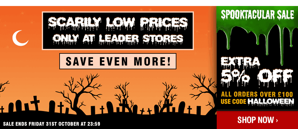 Leader Stores Spooktacular Halloween Sale - Scarily Low Prices!