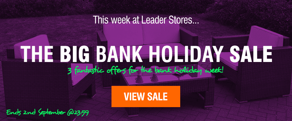 Bank Holiday Sale at Leader Stores