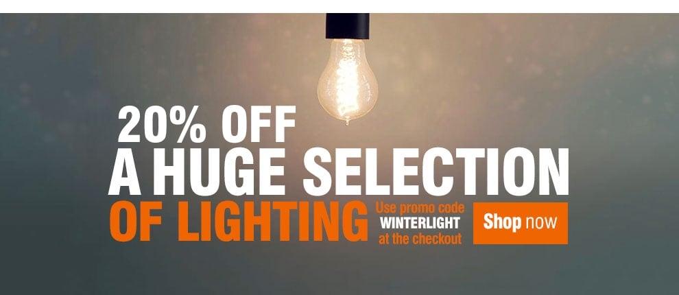 December - 20% Off Lighting