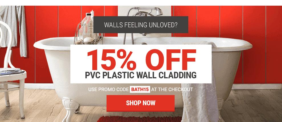15% Off All PVC Plastic Wall Cladding