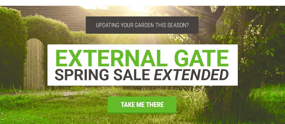 April - Extended Exterior Gate Sale
