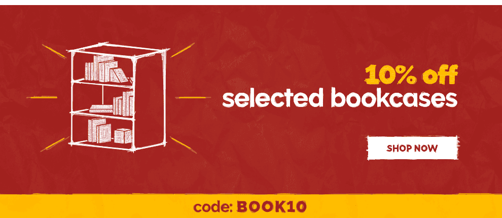 March - 10 off selected bookcases