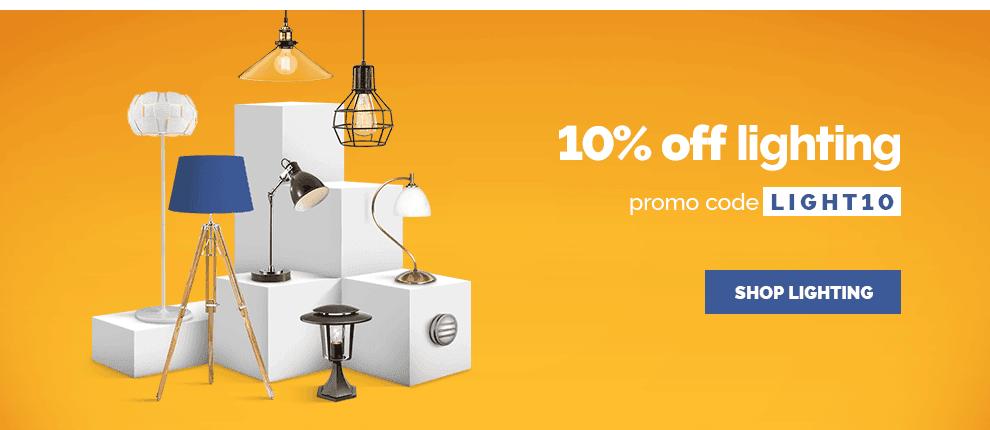 10% off Lighting