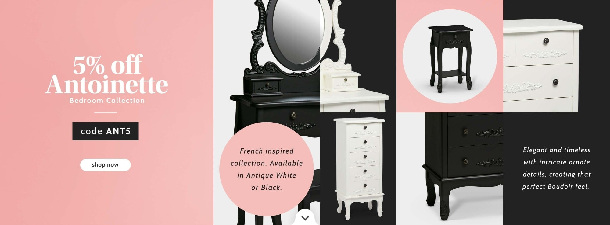 5% OFF Antoinette Bedroom collection