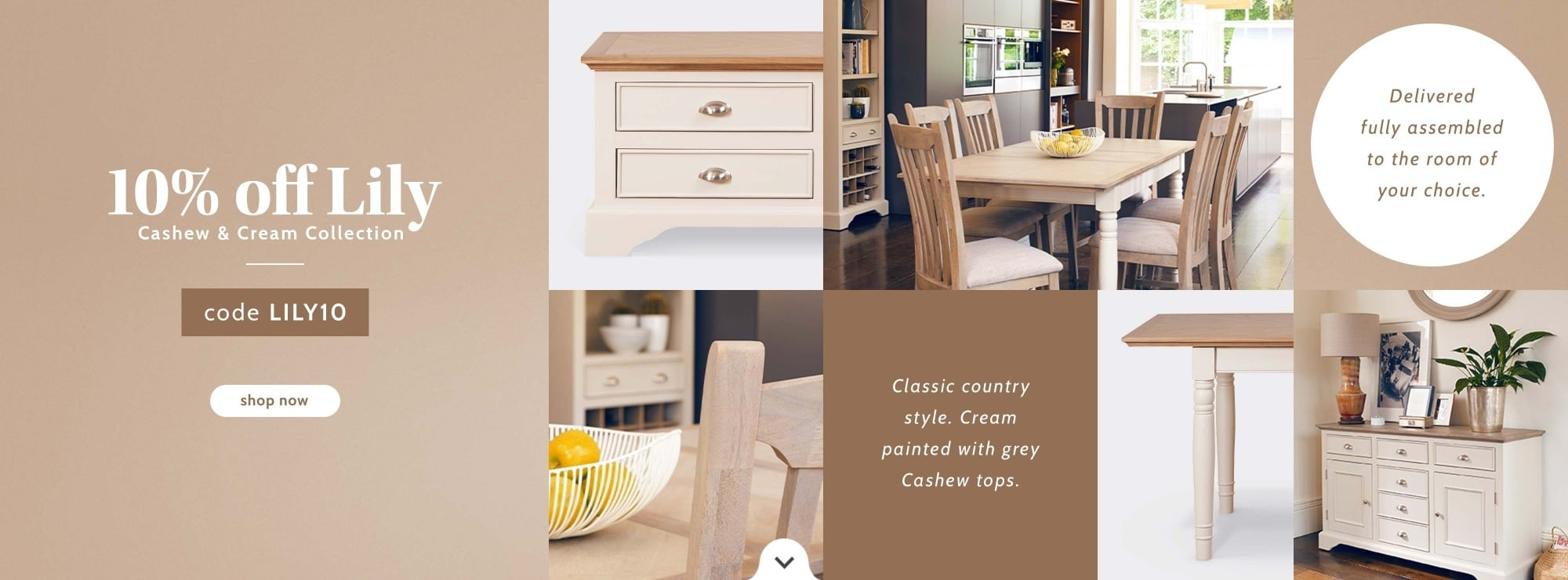 10% OFF Lily Dining collection