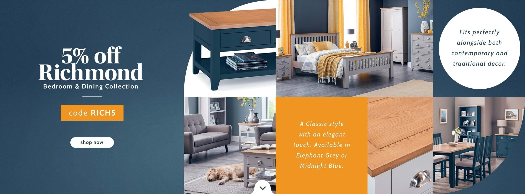 5% OFF Richmond furniture collection