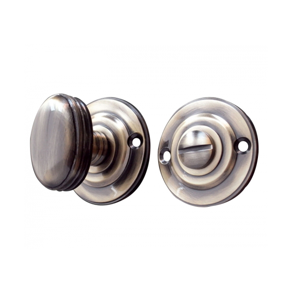 Antique Bronze - 40mm Round Rose Turn And Release