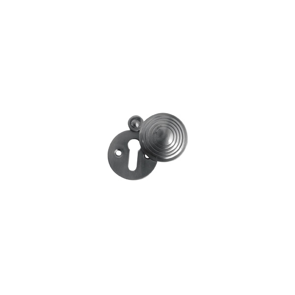 Polished Brass - Reeded Round Covered Escutcheon