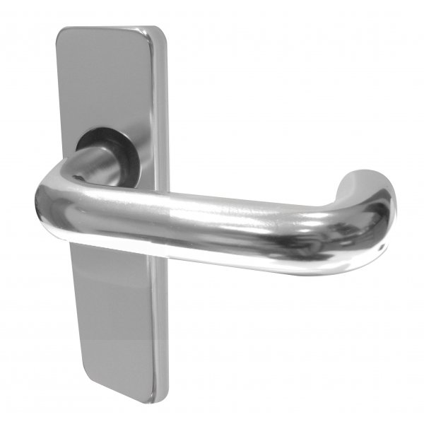 Aluminium  Round Bar Lever Oval Lock On Backplate Handle