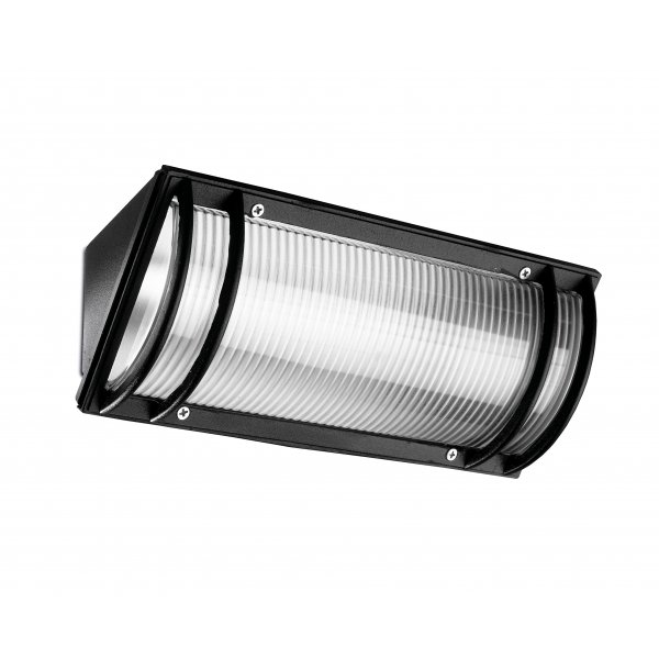 Hercules 60W Black Outdoor Wall Light