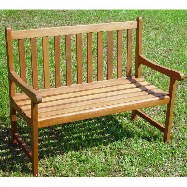 Thames 2 Seater Hardwood Garden Bench