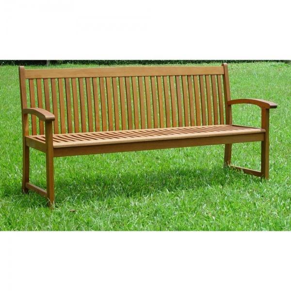 Thames 3 Seater Hardwood Garden Bench