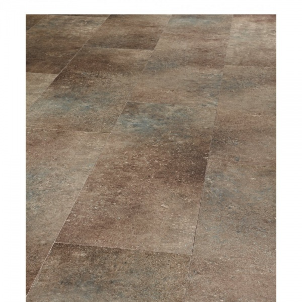 Pure Stone Tile Effect Belgian Blue Flamed 4V Groove Laminate Flooring (643)