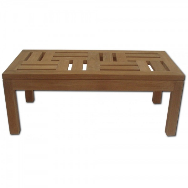 Small Teak Solid Garden Coffee Table