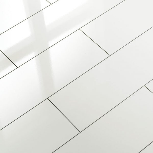 Supergloss White V5 Micro Groove Laminate Flooring