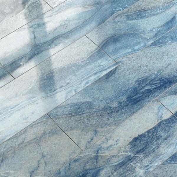 Supergloss Blue Azul V5 Micro Groove Laminate Flooring