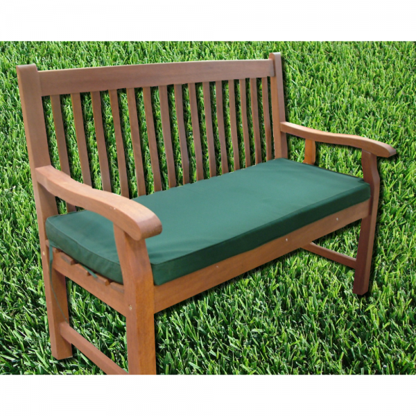 Forest Green 2 Seater Bench Seatpad Cushion