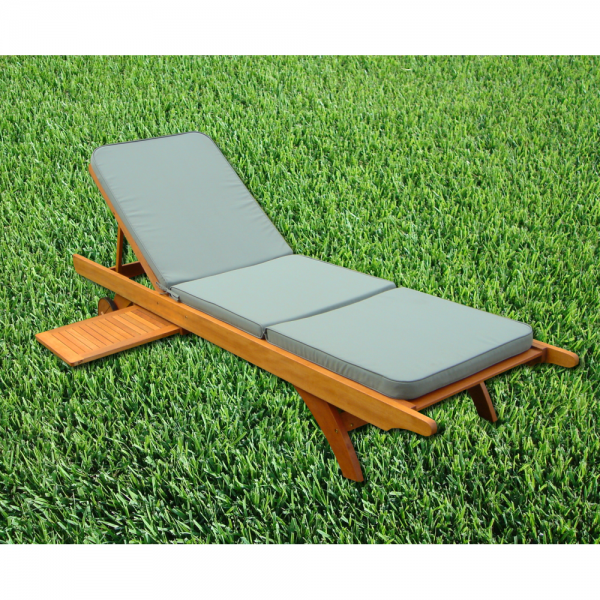 Tundra Green Garden Sunlounger Cushion