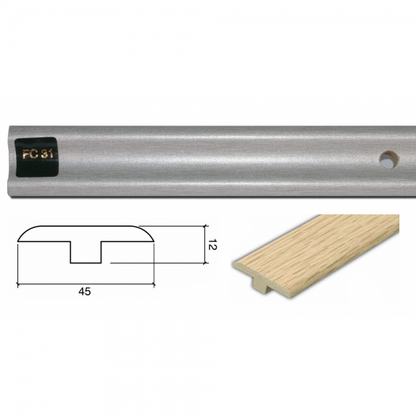 1m Connecting Profile Door Bar (T Section) FC31