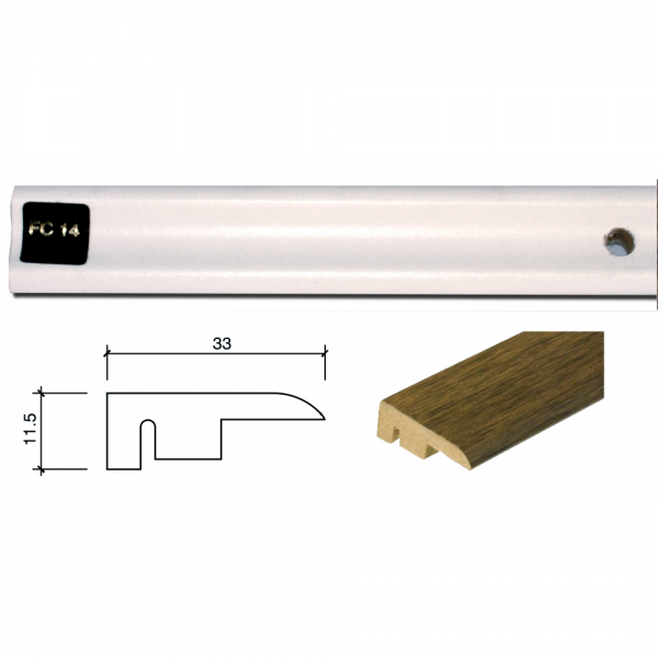 1m End Profile Door Bar (End Section) FC14