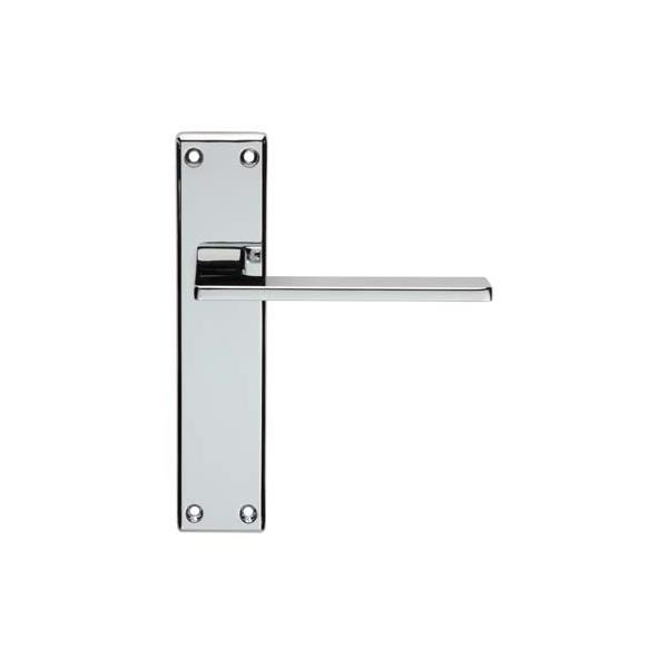Serozzetta M Zone Satin Chrome Lever on Backplate Door Handle (Lever Lock)