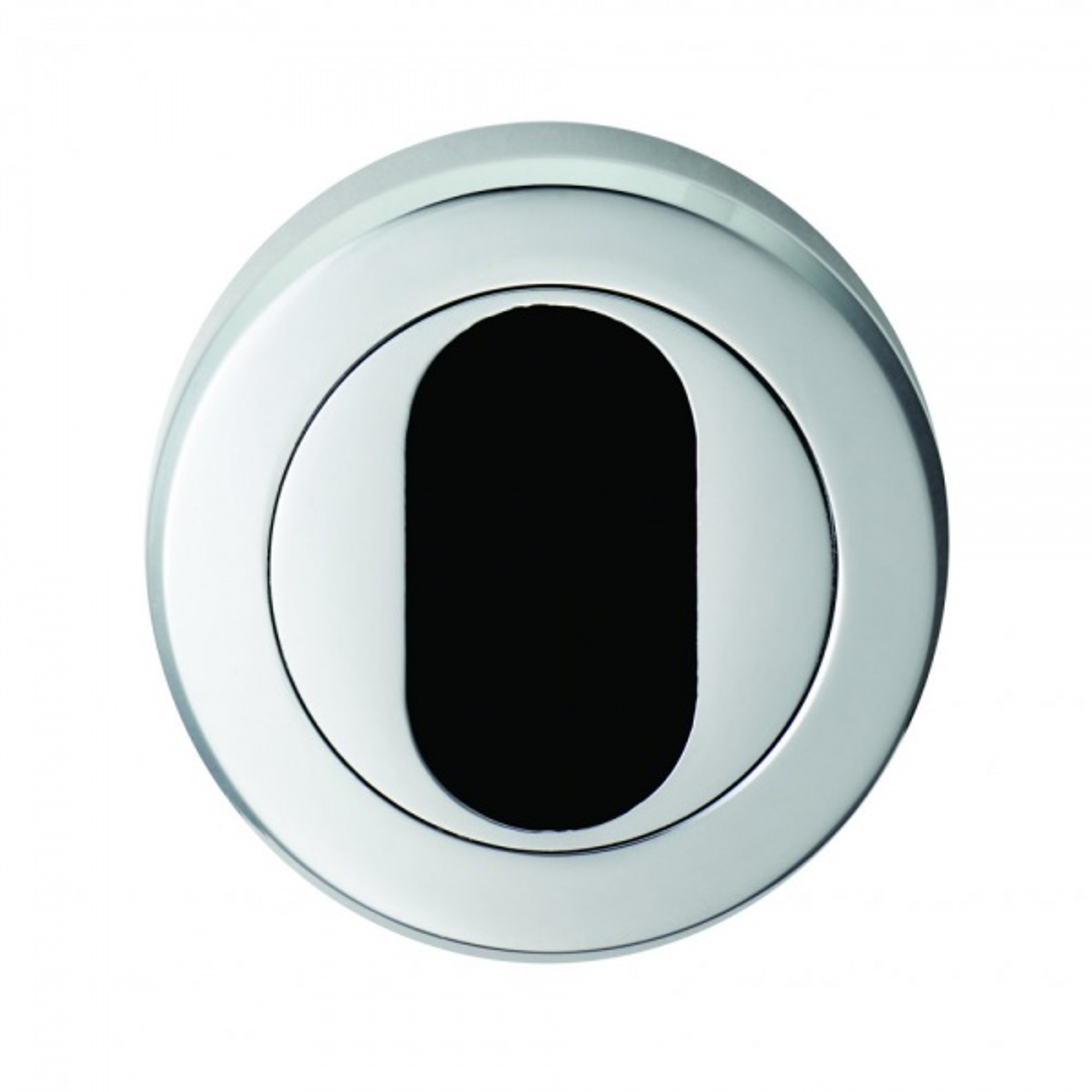 Serozzetta M Polished Chrome Oval Escutcheon