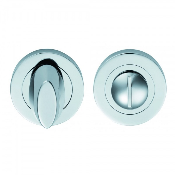 Serozzetta M Polished Chrome Thumbturn and Release Round Escutcheon