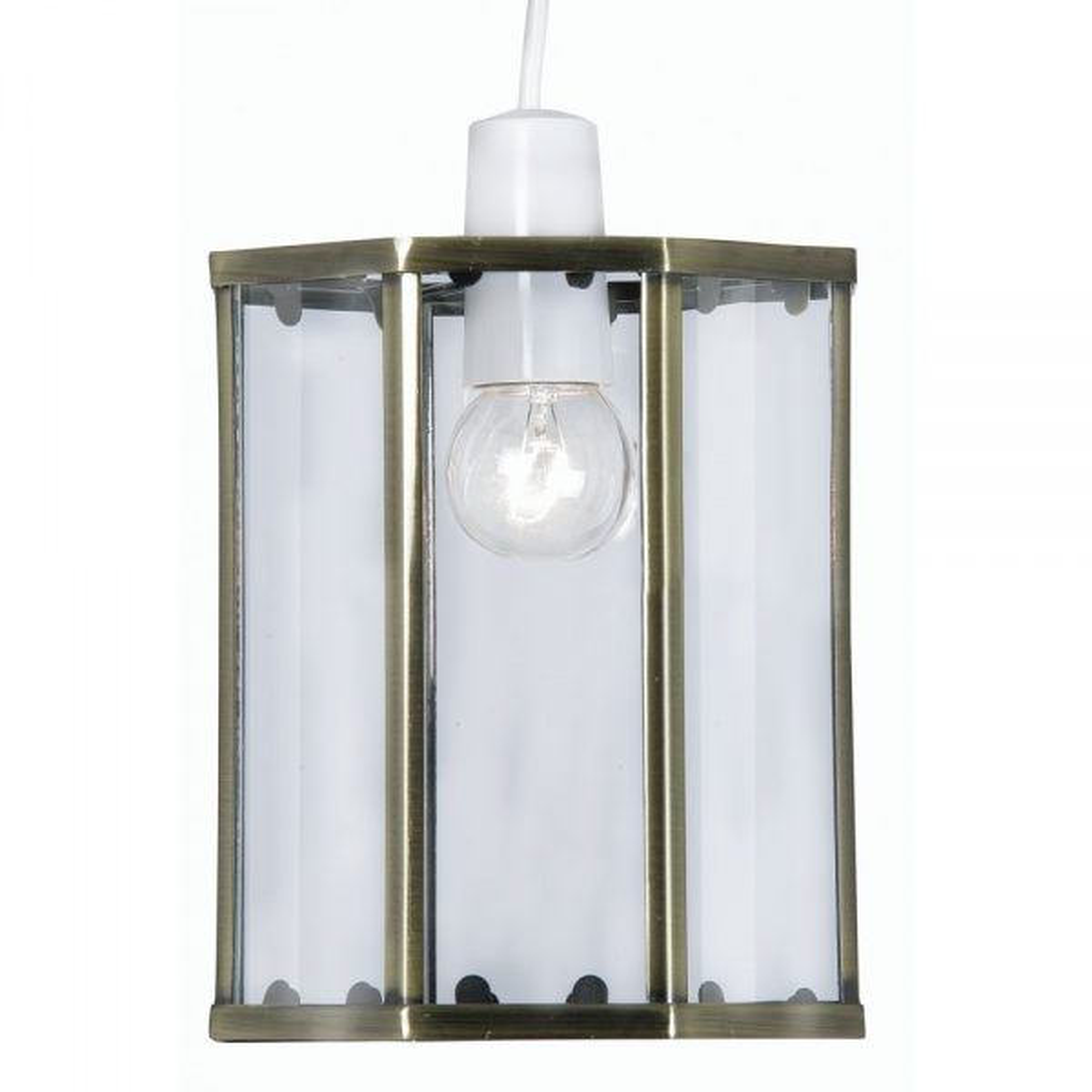 Decorative Dulverton Ne Lantern Antique Brass 1 Light Lantern with Clear Glass
