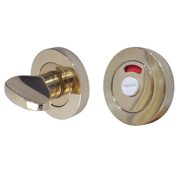 Polished Chrome - 50x10mm Round Rose Turn And Release with Indicator