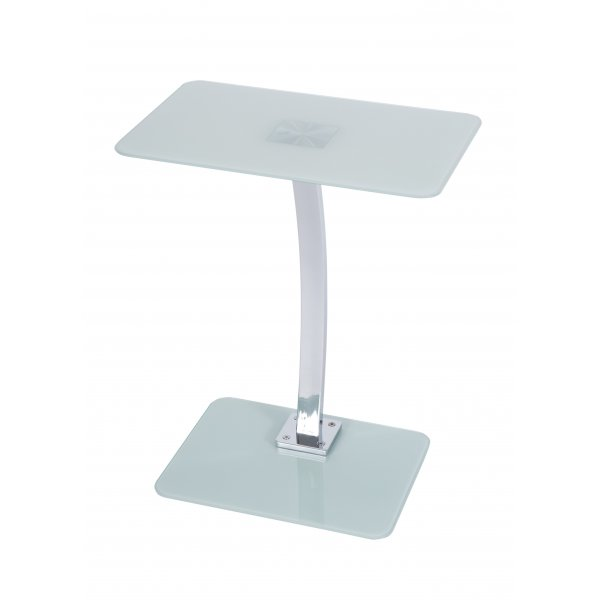 Square White Glass Laptop Table