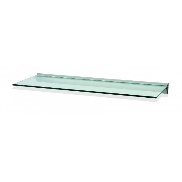 1000mm Aluminium Clear Glass Shelf