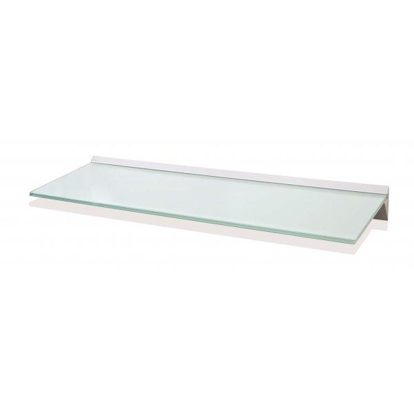 600mm Aluminium White Glass Shelf