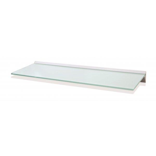 800mm Aluminium White Glass Shelf