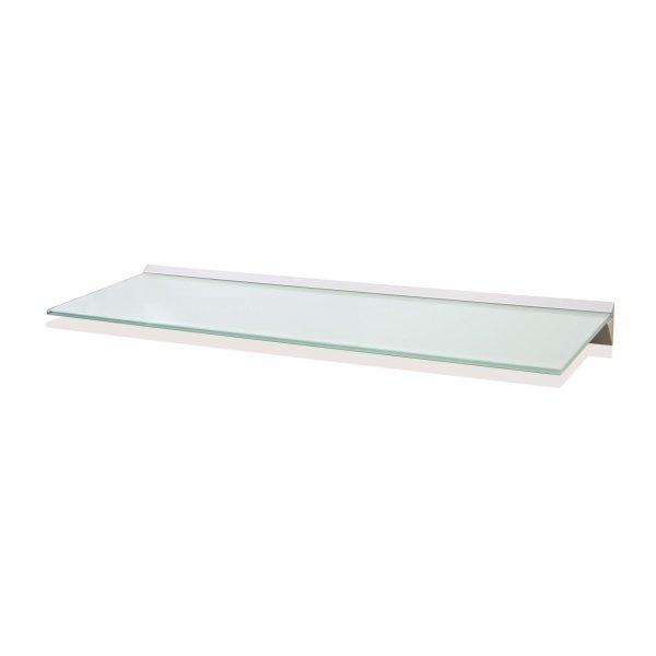 1000mm Aluminium White Glass Shelf