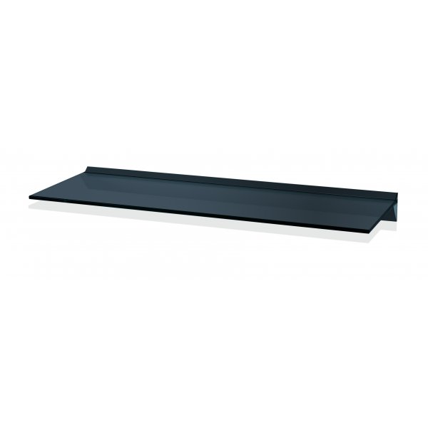 800mm Aluminium Black Glass Shelf