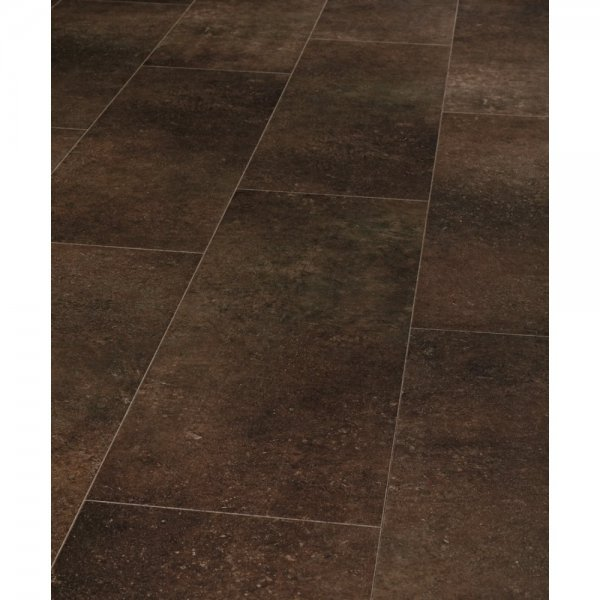 Pure Stone Tile Effect Limestone Tobacco 4v Groove Laminate Flooring (642)