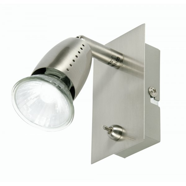 Ecco Antique Chrome Wall Spotlight