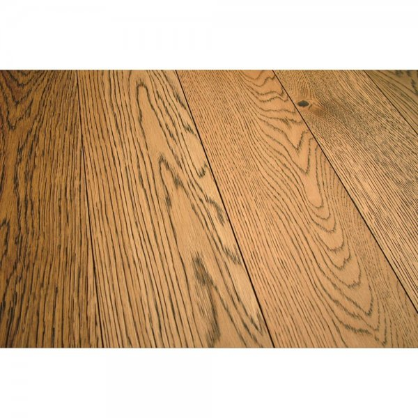 Engineered Oak 143x125mm Carbon Gold Stained Real Wood Flooring