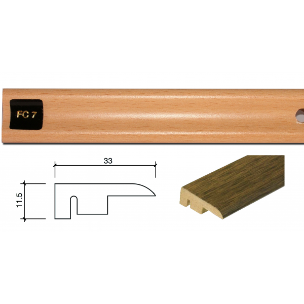 1m End Profile Door Bar (End Section) FC7
