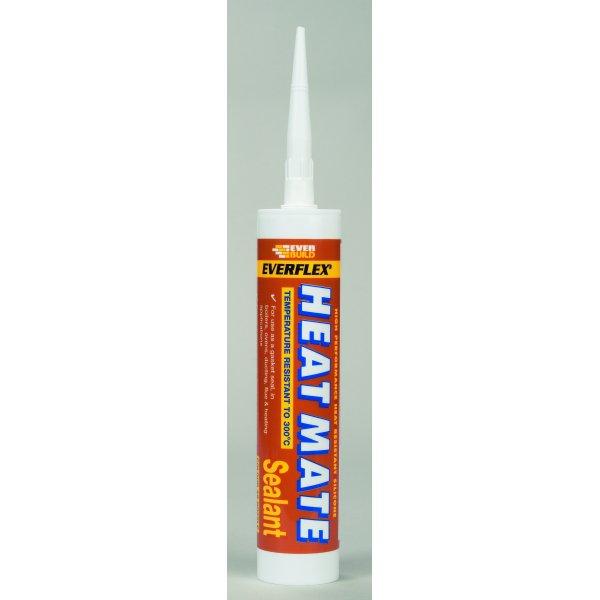 Everbuild  Heat Mate Black Silicone Sealant C3 Tube