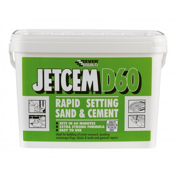 Everbuild - Jetcem D60 Rapid Setting Sand And Cement 20kg Box