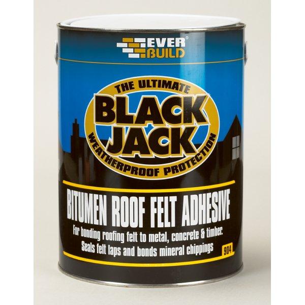Everbuild  Black Jack 904 Bitumen Black Roof Felt Adhesive (25L)