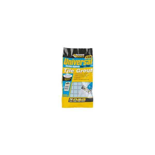 Everbuild - 730 Universal Flexible Hygienic Anthracite Tile Grout 5KG
