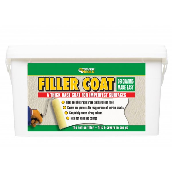 Everbuild - Filler Coat White Thick Base Coating 5LTR