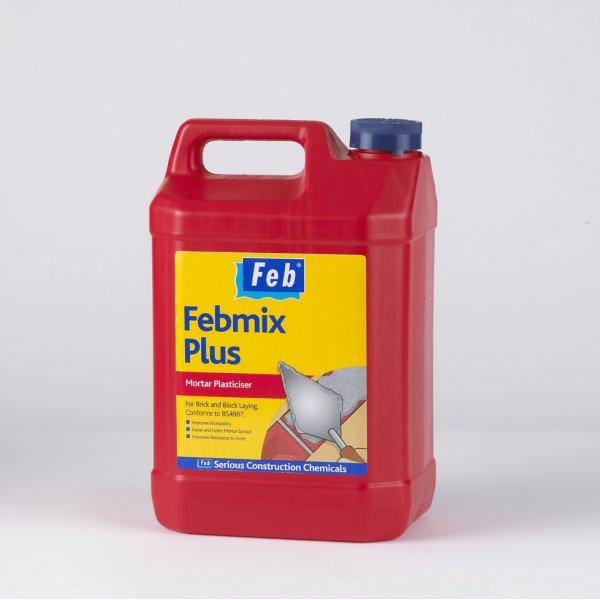 Everbuild  FEB Febmix Plus Red Mortar Plasticiser (5L)