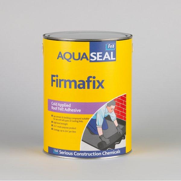 Everbuild  Aquaseal Firmafix Black Roof Felt Adhesive (2.5LTR)
