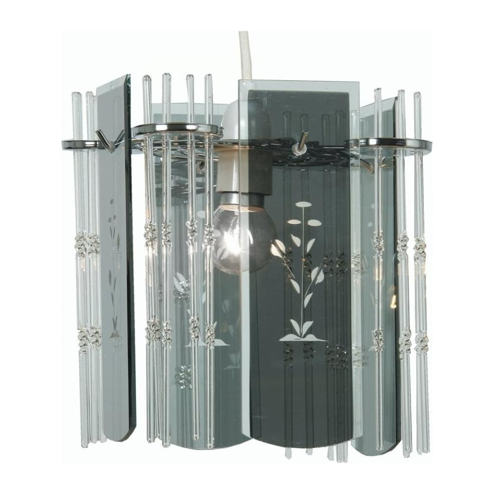 Allyn Chrome Smoked Glass Wall Light